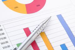 Chart analysis Stock Photos