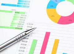 Graphical diagram analysis Stock Photos