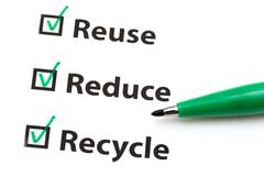 reuse, reduce and recycle - stock photo