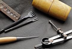 Diy leathercraft tool Stock Photos