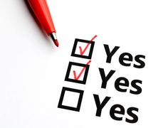 checkbox for yes - stock photo