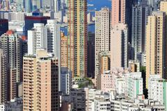 Stock Photo of residential district in hong kong