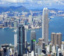 hong kong metropolis - stock photo
