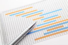 Gantt-kaavio ja kynä Kuvituskuvat