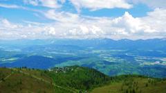 4K Mountains summer landscape, Austria, time-lapse. - stock footage