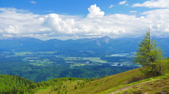 4K Mountains summer landscape, Austria, time-lapse. - stock footage