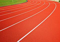 Track running lanes Stock Photos