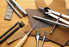 leathercraft tool - stock photo