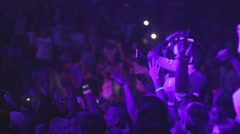 Many people at the concert Stock Footage