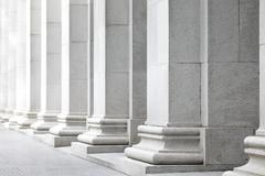 White pillar Stock Photos