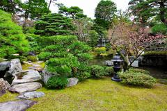 japanese style garden - stock photo