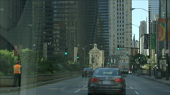 Timelapse of drive down N Columbus, Chicago Stock Footage