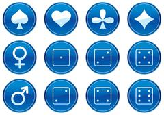 Games icons set. Stock Illustration