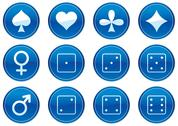 Stock Illustration of Games icons set.