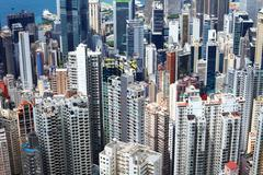 residential district in hong kong - stock photo