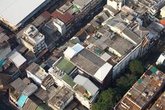 slum area - stock photo
