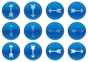 Stock Illustration of Arrows icons set.