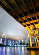 singapore city view with freeway - stock photo