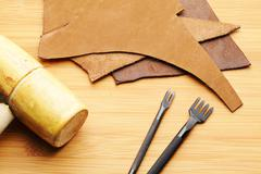 Leather craft tool Stock Photos