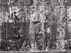 Stock Photo of stone relief detail in chichen itza