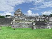 Stock Photo of el caracol observatory temple in chichen itza