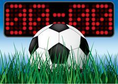 Beginning soccer game. Stock Illustration
