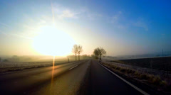 Driving in the Morning Stock Footage