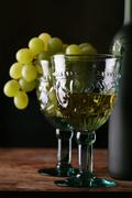 Goblet with new wines Stock Photos