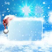 Ice melt blank board 3d design Stock Illustration