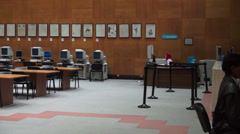 Study Hall, Library, Conference Area Stock Footage