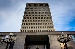 the fallon federal building in baltimore, maryland. - stock photo