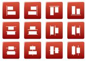Stock Illustration of Gadget square icons set.