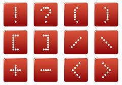 Matrix symbol square icons set. Stock Illustration