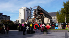 Christchurch cathedral square Stock Footage