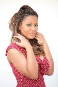 Young African Russian girl Stock Photos