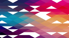 Triangles hipster animation, retro pattern of geometric shapes. Colorful-mosaic  - stock footage