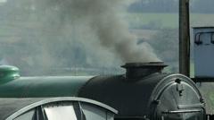 Steam Engine Chimney Stock Footage