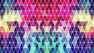 Stock Video Footage of Triangles hipster animation, retro pattern of geometric shapes. Colorful-mosaic