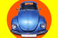 Stock Photo of Vintage Blue Car 60's