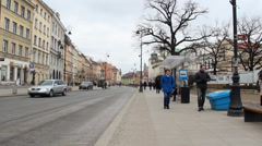 Warsaw, Poland. The old Town. UNESCO heritage site. Stock Footage