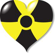 Atomic (Nuclear) heart, danger. Stock Illustration