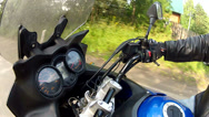 Stock Video Footage of fall on a motorcycle