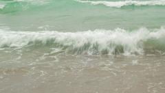 Close up Beach view. China, Hainan Stock Footage