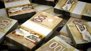 Stock Video Footage of Billion Canadian Dollar