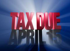 Stock Illustration of april 15, tax due