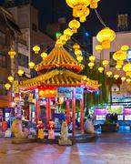 Kobe, japan - november 26, 2012: kobe chinatown in the evening. it is one of Stock Photos