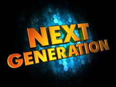 Next Generation Concept on Digital Background. - stock illustration