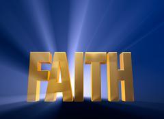 Stock Illustration of dawning faith