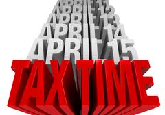 Stock Illustration of tax time is now!