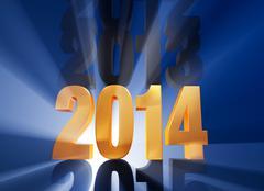 Stock Illustration of it's 2014!